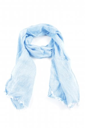 Neckerchief blue flecked casual look