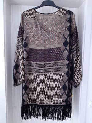 Open End Fringed Dress multicolored