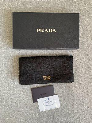 Prada Bolso de mano negro-color oro