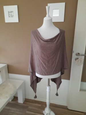 Comma Poncho marrone-grigio-marrone scuro