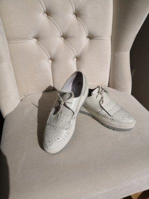Poelman weißer Plateau Sneaker Gr 38