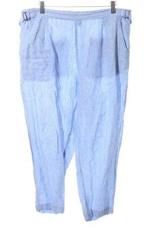 Poetry Pantalón de lino azul look casual