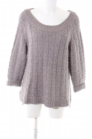Poetry Strickpullover hellgrau Zopfmuster Business-Look