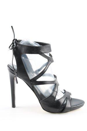 Poi Lei Riemchen-Sandaletten schwarz Casual-Look