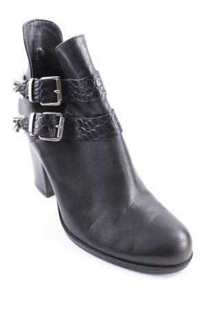 Poi Lei Schlüpf-Stiefeletten schwarz-silberfarben Street-Fashion-Look