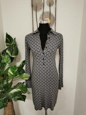 Pois Damen Langarmkleid Jerseykleid Bleistift Kleid gemustert Größe 38