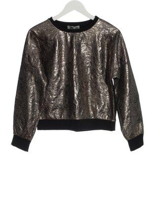 POIS Sweatshirt schwarz-silberfarben Casual-Look