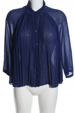 POIS Transparenz-Bluse blau Elegant