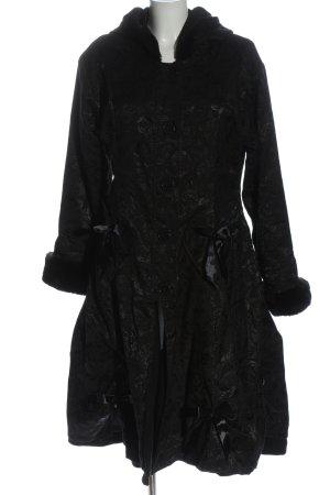 Poizen Industries Manteau à capuche noir motif graphique style décontracté
