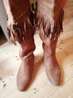H&M Winter Boots cognac-coloured
