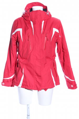 Sportjacke rot-weiß Casual-Look