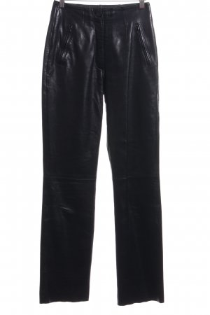 Polar Leder Leather Trousers black extravagant style