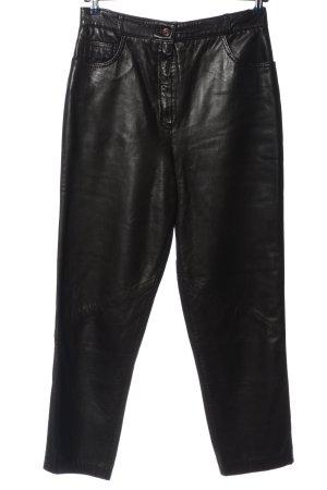 Polar Pantalón de cuero negro look casual