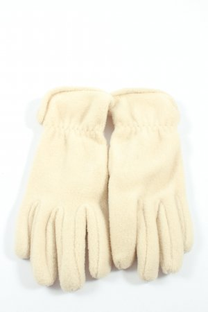 Polar Soft Gants polaires blanc cassé style décontracté