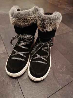 Ocieplane buty czarny-srebrny
