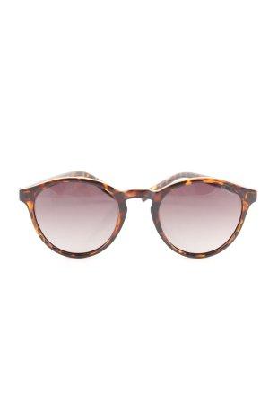 Polaroid ovale Sonnenbrille braun-hellorange Allover-Druck Casual-Look