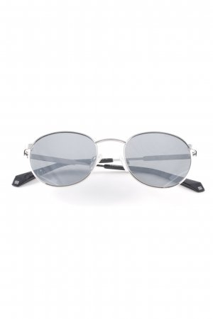 Polaroid ovale Sonnenbrille silberfarben-anthrazit Casual-Look