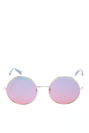 Polaroid Occhiale da sole rotondo oro-rosa stile casual