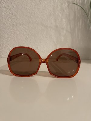 Polaroid Okulary retro ciemny pomarańcz-ciemnobrązowy