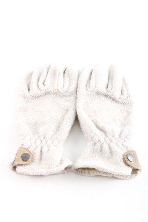 Polartec Guantes con dedos gris claro-marrón look casual