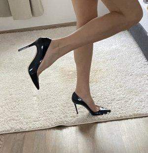 Poletto High Heels blau/metallic Größe 40