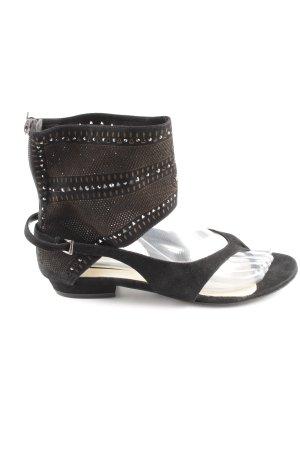 Poletto Zehentrenner-Sandalen schwarz extravaganter Stil
