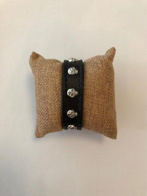 Police Armband aus Leder Größe S