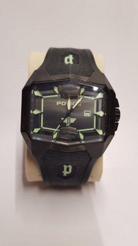 Police Analoog horloge zwart