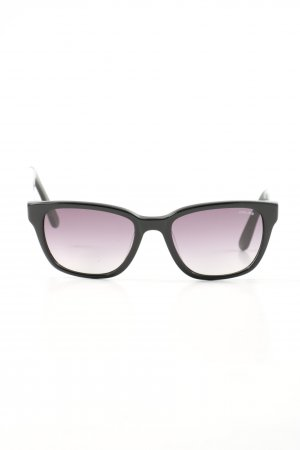 Police Square Glasses black-white casual look