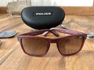 Police Gafas de sol cuadradas carmín-marrón