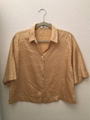Polka-dot satin blouse
