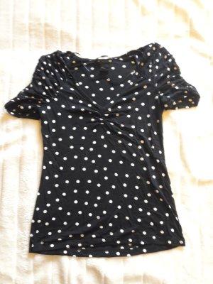Polka Dot Shirt mit gerafften Ärmeln