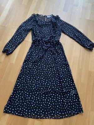 Blue Motion Sukienka midi biały-czarny