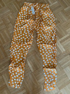 Baggy broek donkergeel-wit
