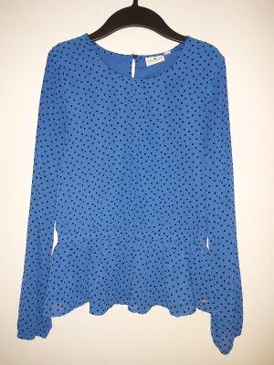 Polkadot-Bluse mit Schößchen
