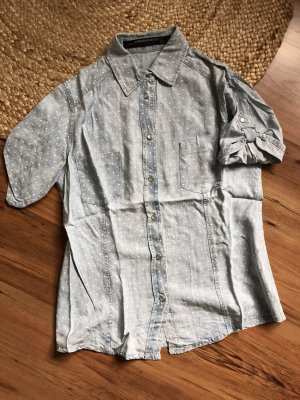Zara Denim Shirt white-azure