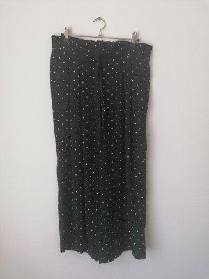 Falda pantalón de pernera ancha azul oscuro-blanco