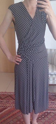 Polkadots Kleid im Wickellook