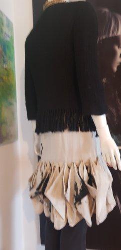 Pollini Robe à volants noir-beige clair
