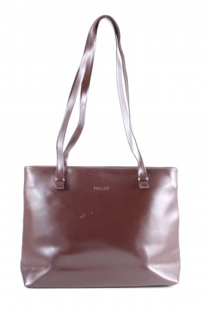 Pollini Handtasche braun Business-Look
