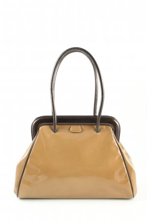 Pollini Handtasche bronzefarben-schwarz Business-Look