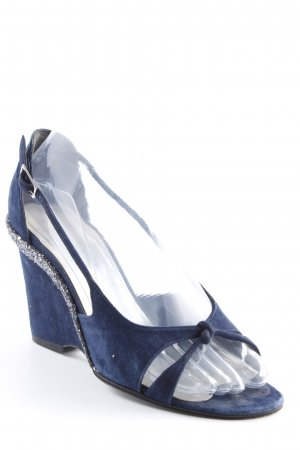 Pollini Keil-Pumps dunkelblau Party-Look