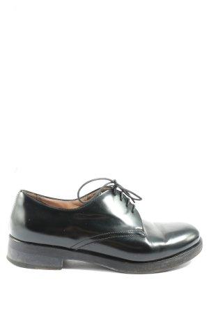Pollini Sznurowane buty czarny W stylu casual