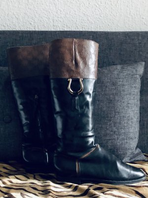Pollini Riding Boots black-brown