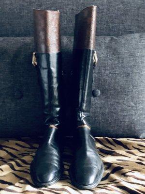 Pollini Buty jeździeckie czarny-brązowy