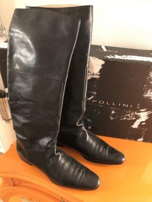 Pollini Stiefel - Reiterlook - schwarz komplett Leder - Gr. 38 OVP