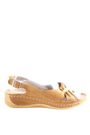 pollonus Comfortabele sandalen bruin casual uitstraling