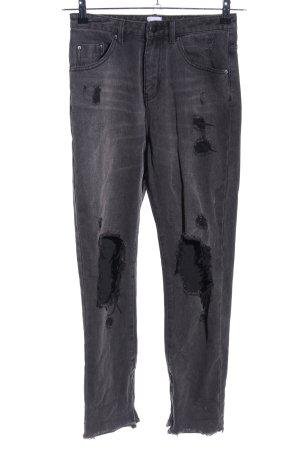 High Waist Jeans hellgrau Casual-Look