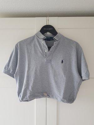 Urban Outfitters Polo Shirt light grey-dark blue cotton