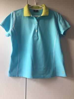 Bogner Camiseta tipo polo azul aciano-amarillo pálido